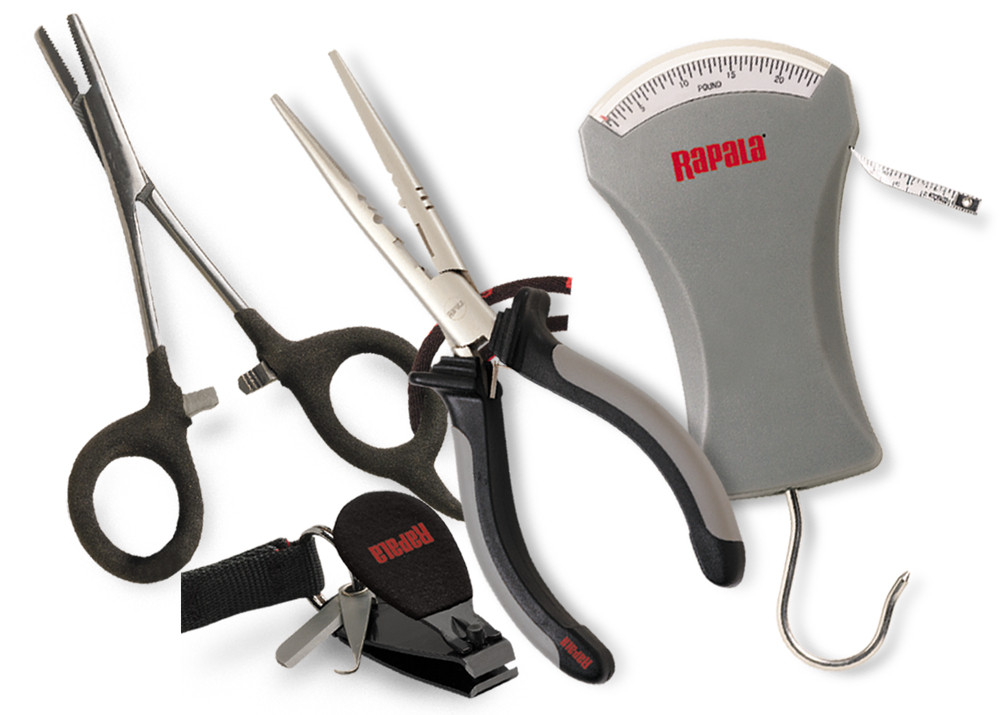 Rapala Werkzeugset Combo Pack Deluxe RTC6PFSC - Zange, Forceps, Wagge, Clipper