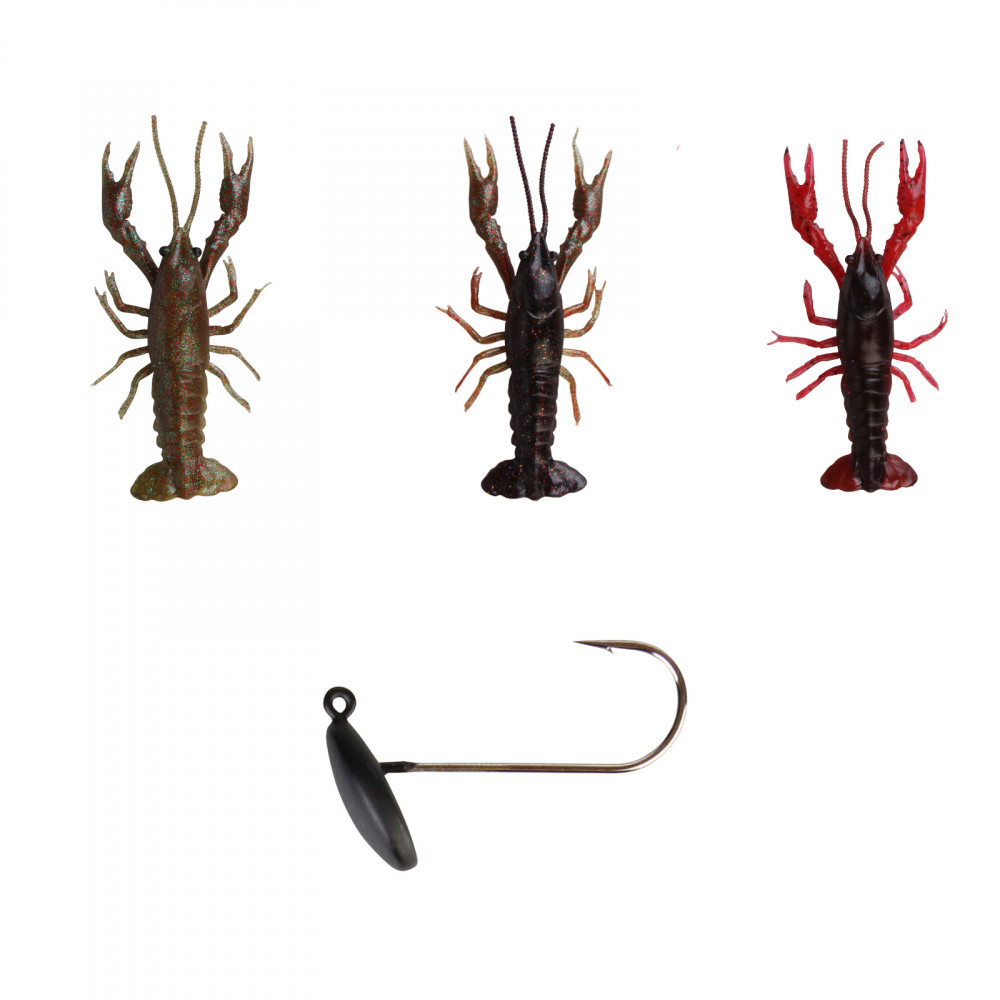Savage Gear 3D Crayfish Kit 8 cm 3+1 Gummiköder