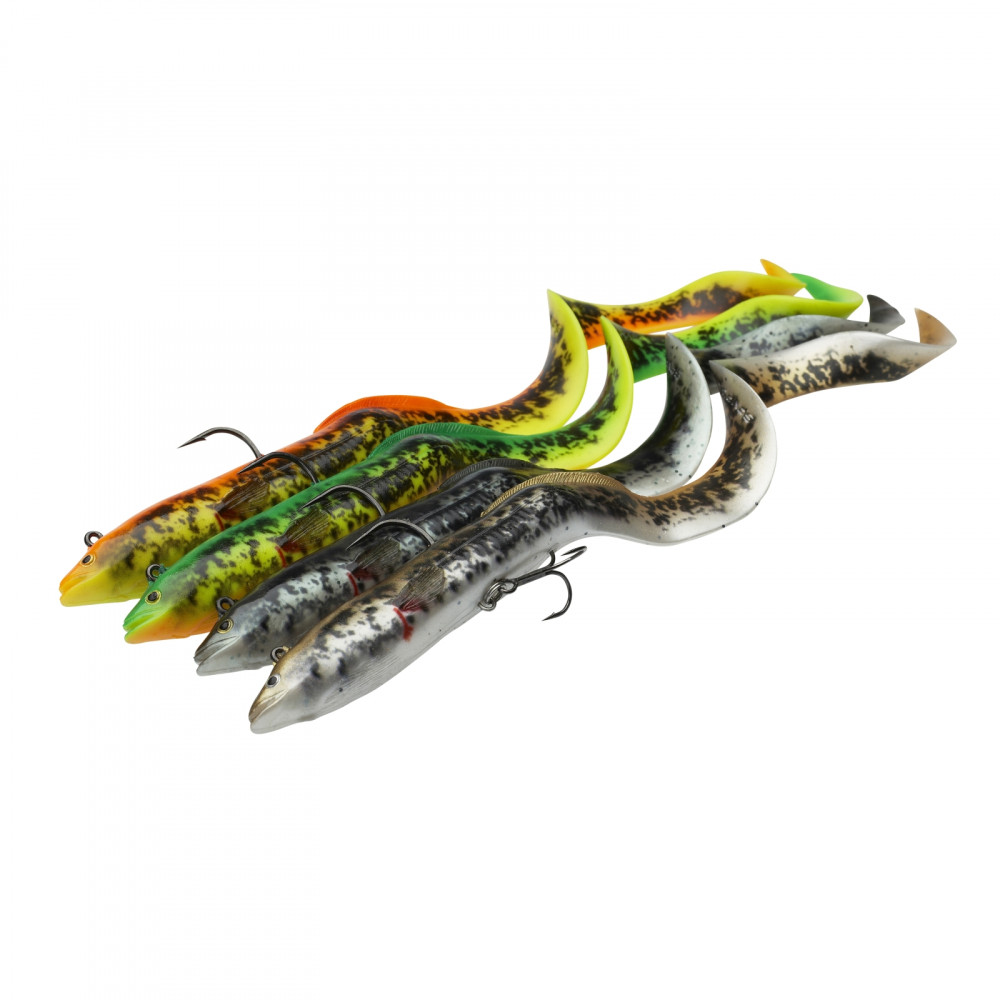 Savage Gear 4D Real Eel PHP Ready to Fish 20 cm 30 cm Gummifisch Gummiköder Aal